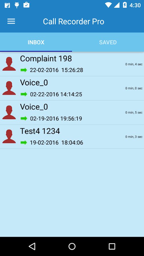 Call Recorder Pro Screenshot 4