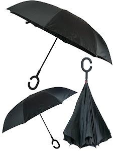 Зонт обратный, черный-белый