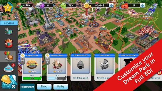 RollerCoaster Tycoon Touch 1.5.36 (Mod Money) Apk + Data