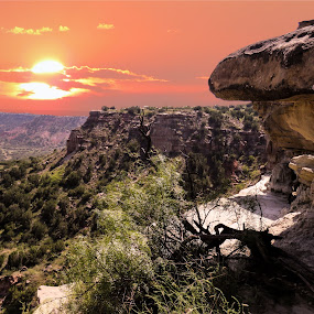 The canyon at sunset by Scott Thomas - Landscapes Mountains & Hills ( #landscape, #nature, #canyon, #sunset, #hill )