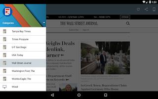 Screenshot of US Newspapers