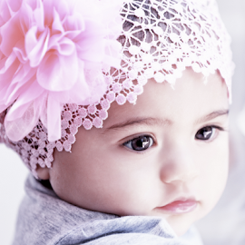 ping baby by Michael Karakinos - Babies & Children Babies ( pink baby girl, low key )