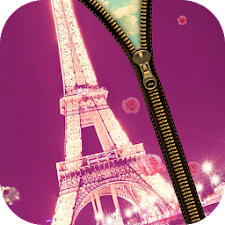 Paris Love Zipper Lock Screen