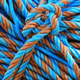 Sailor rope by Ana Paula Filipe - Abstract Patterns ( abstract, orange, rope, blue, sailor,  )