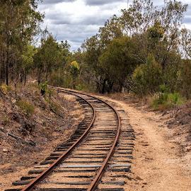 by Cora Lea - Transportation Railway Tracks