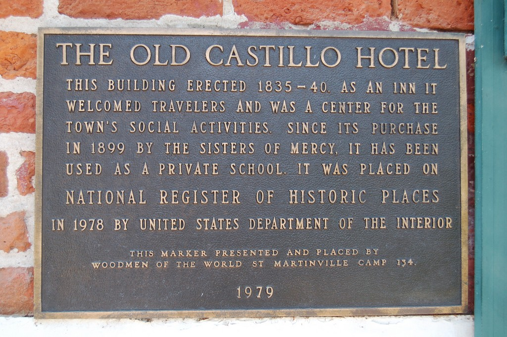 This building erected 1835-40. As an inn it welcomed travelers and was a center for the town's social activities. Since its purchase in 1899 by the Sisters of Mercy, it has been used as a private ...