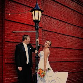 Just Married by Melanie Metz - Wedding Bride & Groom ( vows, wedding, bride, marriage, groom )