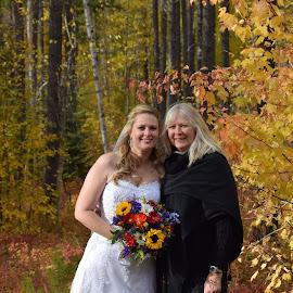 Fall wedding in Glacier Park, Montana by Dawna Hall-Kraus - Wedding Bride