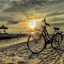 Sunrise  by Bobo Tandiono - Transportation Bicycles ( sun.bicycle.sand.kazebo.cloud )