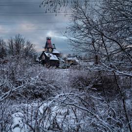 Rural castle by Maxim Malevich - Landscapes Weather ( winter, russia, snow, weather, castle, landscape, rural )