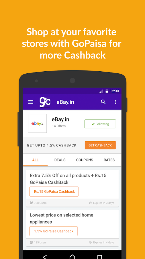 GoPaisa Cashback Coupons Deals Screenshot 4