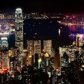 Hong Kong skyline by Peter Cheung - City,  Street & Park  Skylines