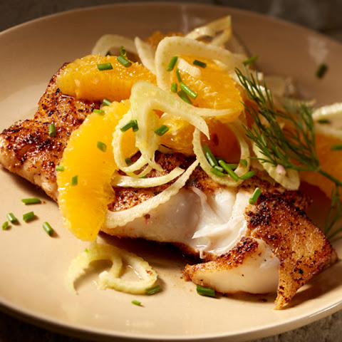 Blackened Wild Alaska Cod with Fennel and Orange Salad by Chef John Besh