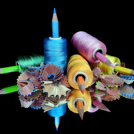 Pencil-thread combo  by Asif Bora - Artistic Objects Other Objects (  )