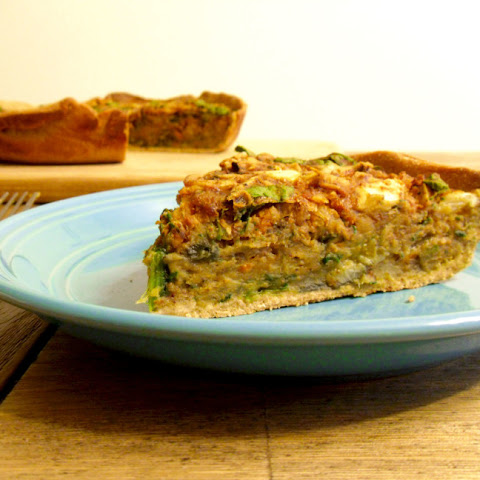 Low Fat Chickpea Quiche with Sourdough Crust