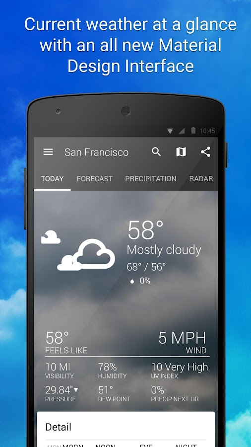 1Weather:Widget Forecast Radar Screenshot 0