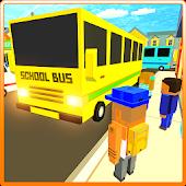 Game Cube Craft Pixel School Bus 3D APK for Windows Phone