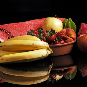Tropical fruits by Cristobal Garciaferro Rubio - Food & Drink Fruits & Vegetables ( banana, dragon fruit, fruit, fruis, apple, pwcfruit, watermelon, pear )