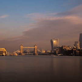 London by Brian Knott - City,  Street & Park  Skylines ( gherkin, shard, thames, london, morning, river )