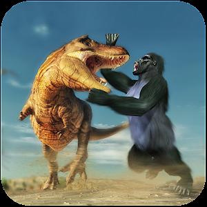 Gorilla Battle: Dinosaur World Survival For PC / Windows 7/8/10 / Mac – Free Download