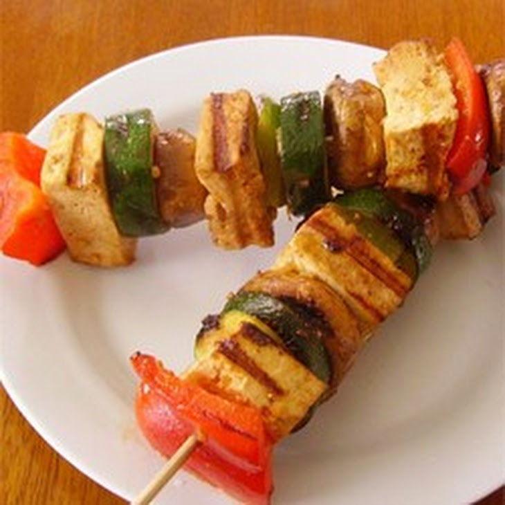Grilled Tofu Skewers with Sriracha Sauce Recipe | Yummly