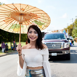 Parade Time by Christopher Winston - People Street & Candids ( parade, female, outdoors, street, fun )
