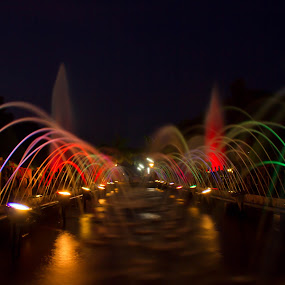 Fountains near Vadodara by Bhavik Patel - City,  Street & Park  City Parks