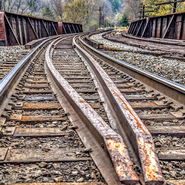 Jim Thorpe Rails by Diane Ljungquist - Transportation Railway Tracks