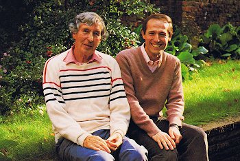 With Michael Tippett, during recording of the 4 Piano Sonatas, London, 1985