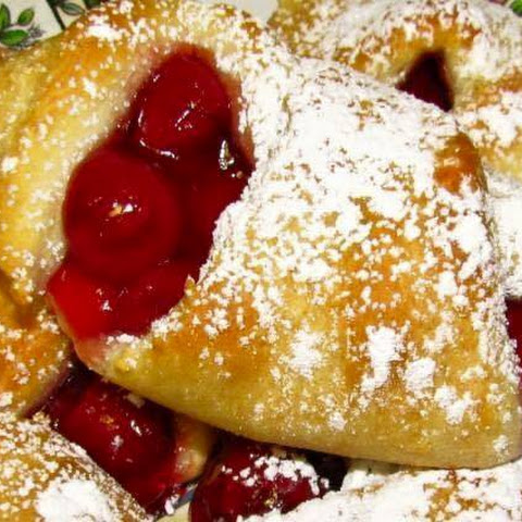 Easy Cherry Filled Crescents