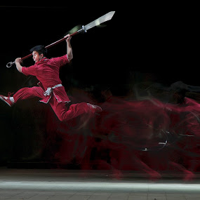 Wushu by Basuki Mangkusudharma - People Fine Art ( performance, art, chinese, wushu )