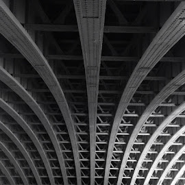 Beneath Blackfriars by Garry Warren - Buildings & Architecture Bridges & Suspended Structures ( thames, railway, blackfriars, architecture, bridge, river )