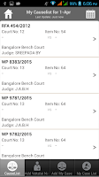 Screenshot of Ideal Causelist for high court