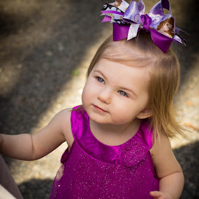 Looking at Nana  by April Sadler - Babies & Children Child Portraits ( #child#park#blueeyes#portrait, KidsOfSummer,  )