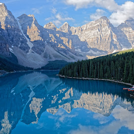 Moraine Lake  by Gosha L - Landscapes Mountains & Hills