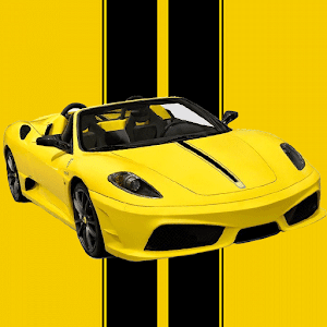 Yellow Sports Car Race