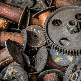 Gears and Bobbins  by Mary Malinconico - Artistic Objects Other Objects