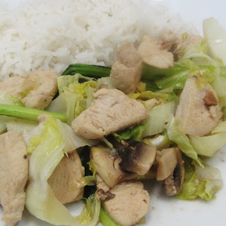 Cauliflower Leaf and Chicken Stir Fry
