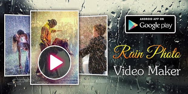 Rain Photo Video Maker - screenshot