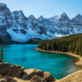 Moraine Lake 2 by Keri Harrish - Landscapes Waterscapes (  )