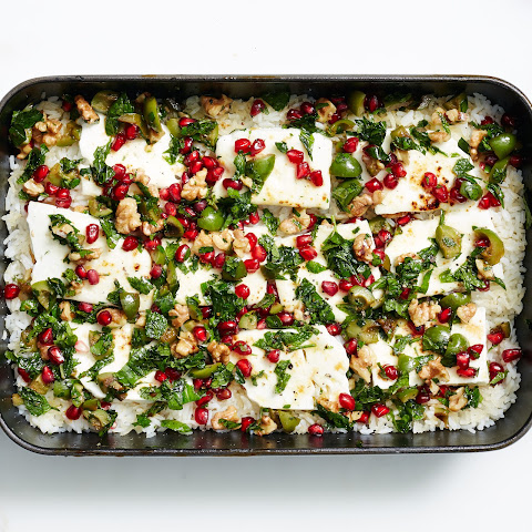 Spiced Squash with Pomegranate & Feta Recipe | Yummly