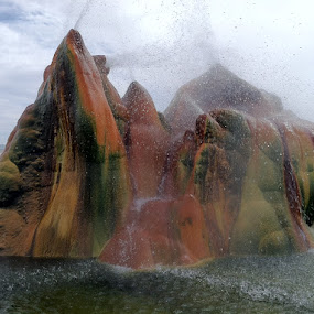 The Fly Geyser by Ralph MInnitte - Landscapes Travel