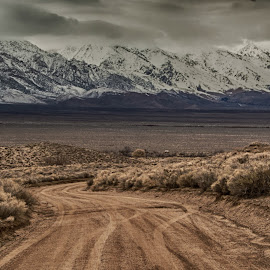 Road to the Sierra by Richard Michael Lingo - Landscapes Mountains & Hills ( mountains, sierra nevada, california, landscapes, roadway )