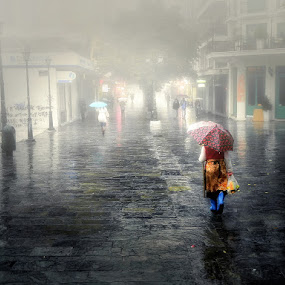 Fog by Gregory Dallis - City,  Street & Park  City Parks