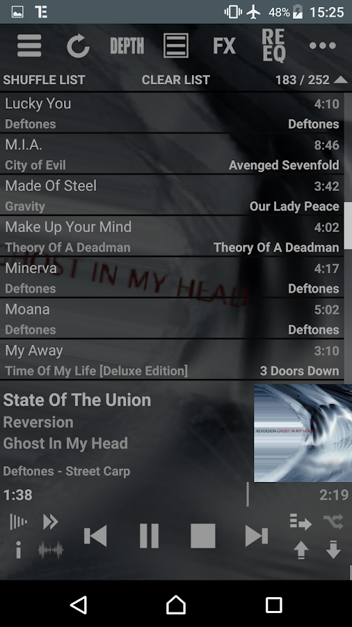 T Music Player + RE Equalizer Screenshot 4