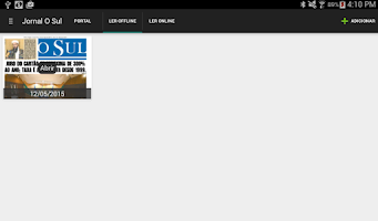 Screenshot of Jornal O Sul