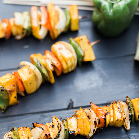 Spicy Grilled Mango Skewers