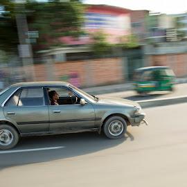 Speed by Ahmed Omar Aziz Bony - City,  Street & Park  Street Scenes ( panning, bangladesh, dhaka )