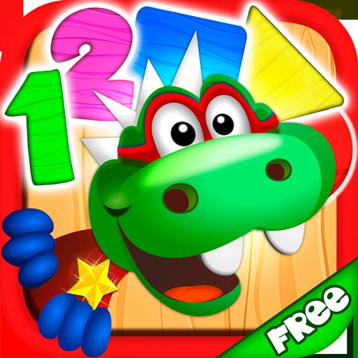 Dino Tim: Preschool basic skills, numbers & shapes (game)