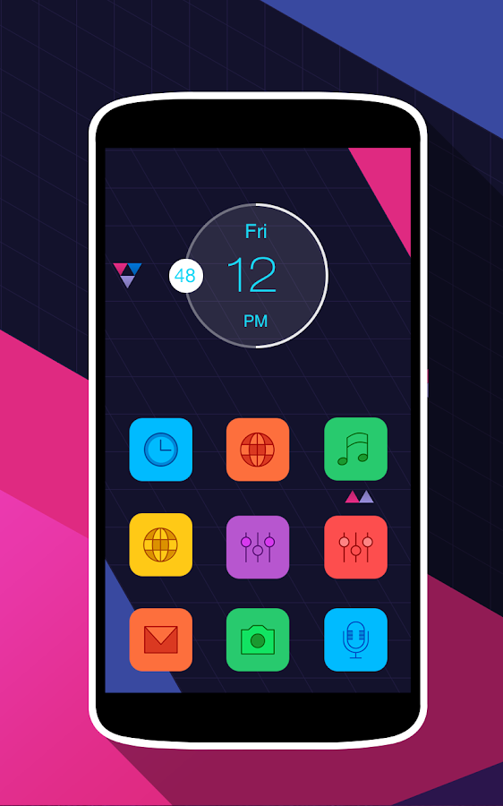 Colorful Icons Pack & Theme Screenshot 4